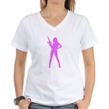 Girl with assault rifle T-Shirt