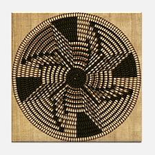 Harvest Moons Pima Basket Tile Coaster