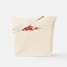 Flaming Red Skull Tote Bag
