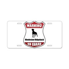 Unique Ridgeback Aluminum License Plate