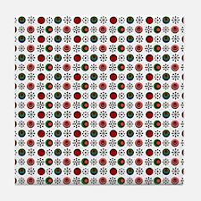 Retro Circles Tile Coaster