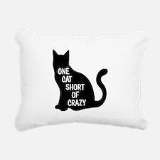 One Cat Short Of Crazy Rectangular Canvas Pillow