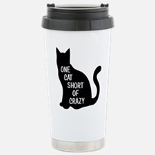 One Cat Short Of Crazy Travel Mug