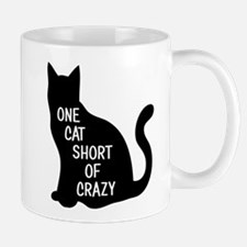 One Cat Short Of Crazy Mugs