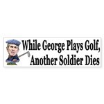 George Plays Golf, A Soldier Dies (sticker)