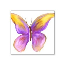"Pretty Butterfly 2 Square Sticker 3"" x 3"""