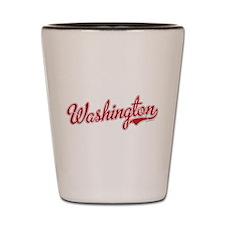 Washington State Script Font Shot Glass