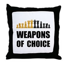 Chess Weapons Throw Pillow