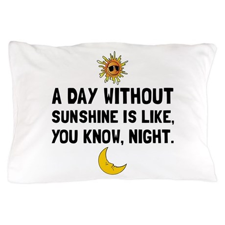 """""""A day without sunshine is like, you know, night."""""""