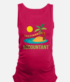 Retired Accountant Maternity Tank Top