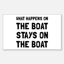 Happens On The Boat Decal