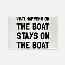 Happens On The Boat Magnets