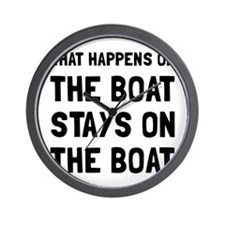 Happens On The Boat Wall Clock
