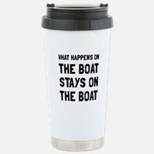 Happens On The Boat Travel Mug