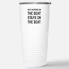 Happens On The Boat Travel Mug