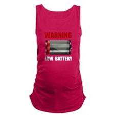 Low Battery Maternity Tank Top