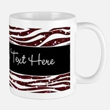 Red Black Glitter Custom Mug