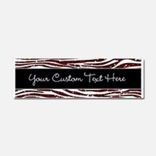 Red Black Glitter Custom Car Magnet 10 x 3