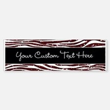 Red Black Glitter Custom Bumper Bumper Sticker