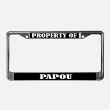 Property Of Papou License Plate Frame