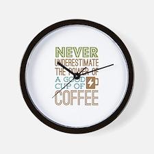 Power of Coffee Wall Clock