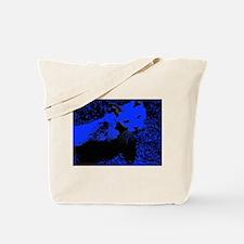 Blue Urban Jungle Cat Tote Bag