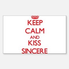 Keep Calm and Kiss Sincere Decal
