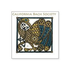 "Cute Bach Square Sticker 3"" x 3"""