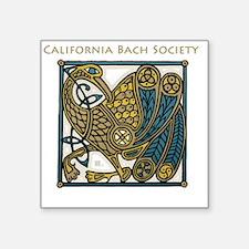 """Unique Bach Square Sticker 3"""" x 3"""""""