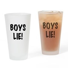 Boys Lie Drinking Glass