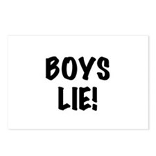 Boys Lie Postcards (Package of 8)