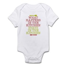 What Happens in the Kitchen Infant Bodysuit