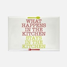 What Happens in the Kitchen Rectangle Magnet