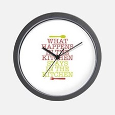 What Happens in the Kitchen Wall Clock