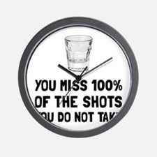 Miss The Shots Wall Clock