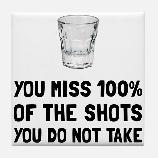 Miss The Shots Tile Coaster