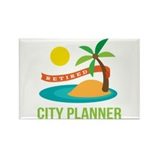 Retired City planner Rectangle Magnet
