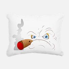 Angry Face Smoking Rectangular Canvas Pillow