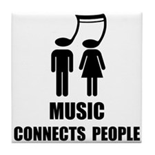 Music Connects People Tile Coaster
