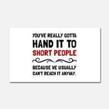 Short People Car Magnet 20 x 12