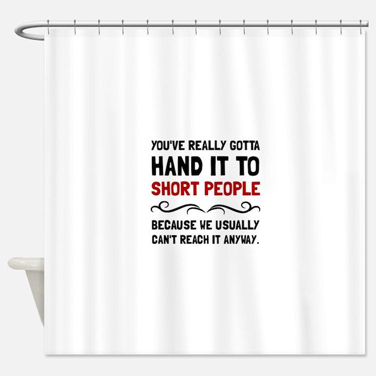 short jokes shower curtains | short jokes fabric shower curtain liner