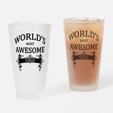 World's Most Awesome Virgo Drinking Glass