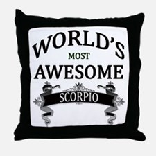 World's Most Awesome Scorpio Throw Pillow