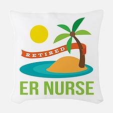 Retired ER nurse Woven Throw Pillow