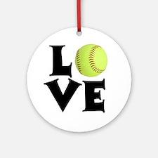 Love - Softball Ornament (Round)