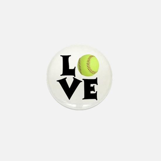 Love - Softball Mini Button