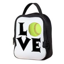 Love - Softball Neoprene Lunch Bag