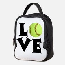 Love - Softball Neoprene Lunch Bag