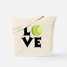 Love - Softball Tote Bag