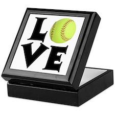Love - Softball Keepsake Box